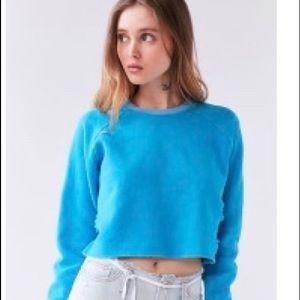 BDG neon blue crop sweater